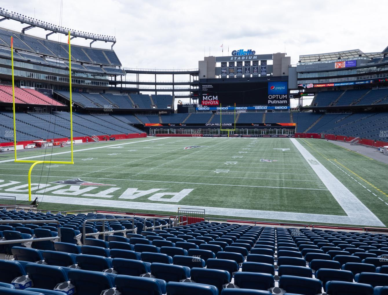 New England Patriots at Gillette Stadium Section 141 View