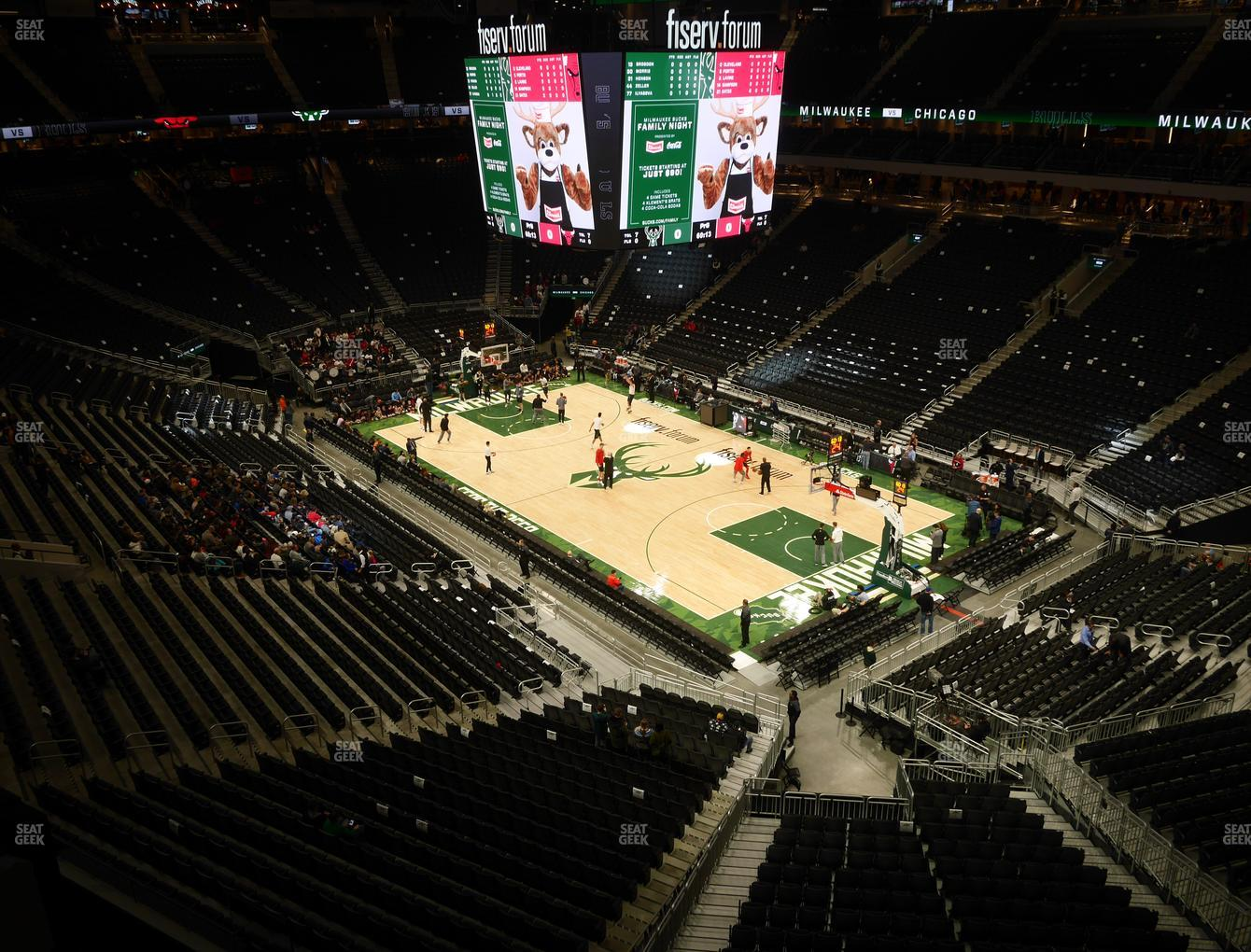 Milwaukee Bucks at Fiserv Forum Section 204 View