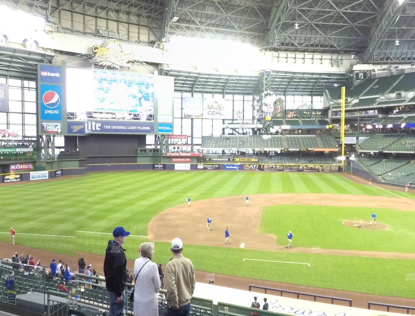 Milwaukee Brewers at Miller Park Section 224 View