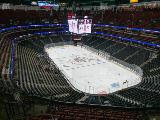 Honda Center Section 404 view