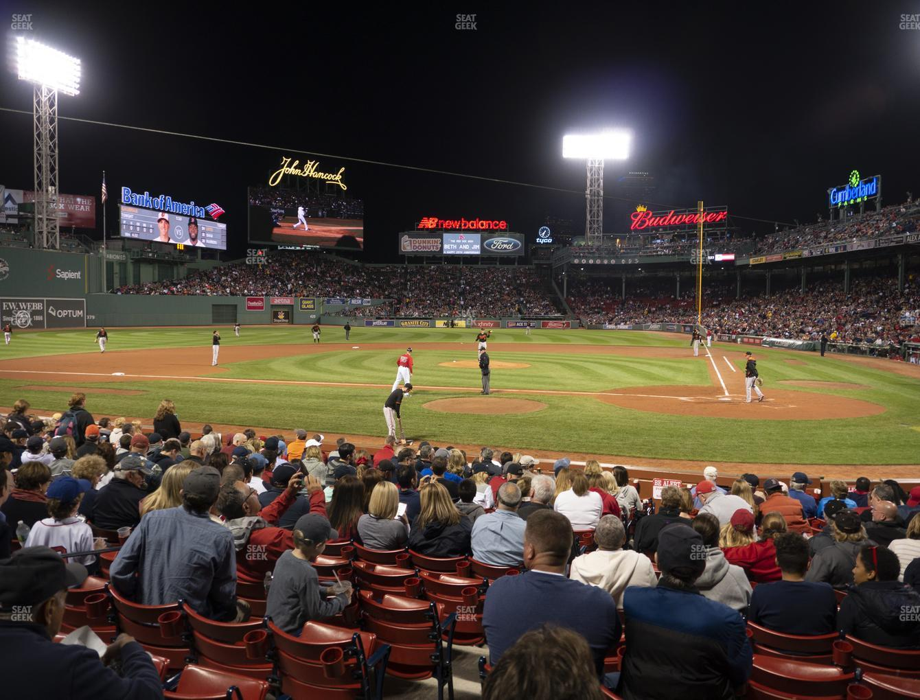 Boston Red Sox at Fenway Park Loge Box 139 View