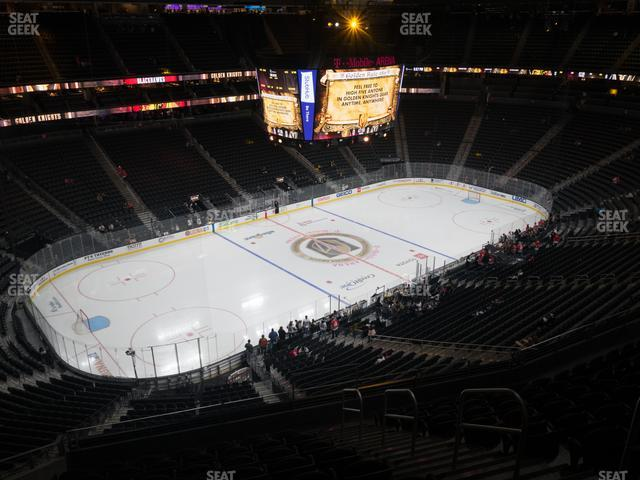 T-Mobile Arena Section 201 view