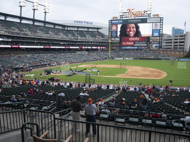 Comerica Park Section 120 view