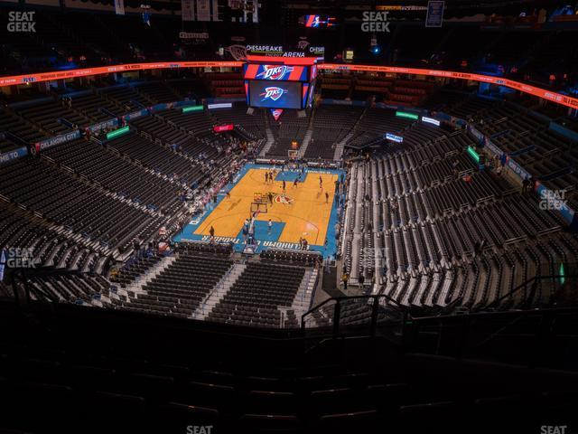 Chesapeake Energy Arena Section 315 view