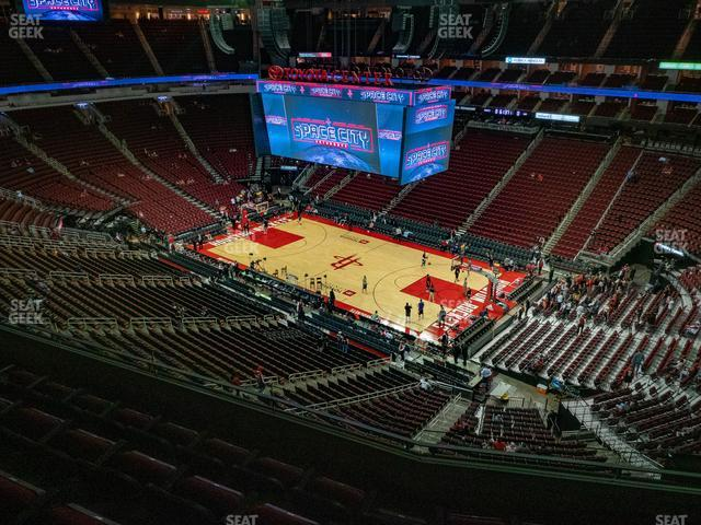 Toyota Center Section 423 view