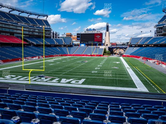 Gillette Stadium Section 119 view