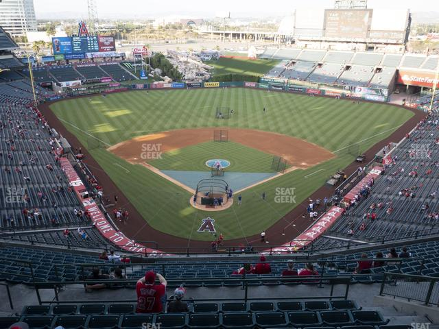 Angel Stadium of Anaheim Section 521 view