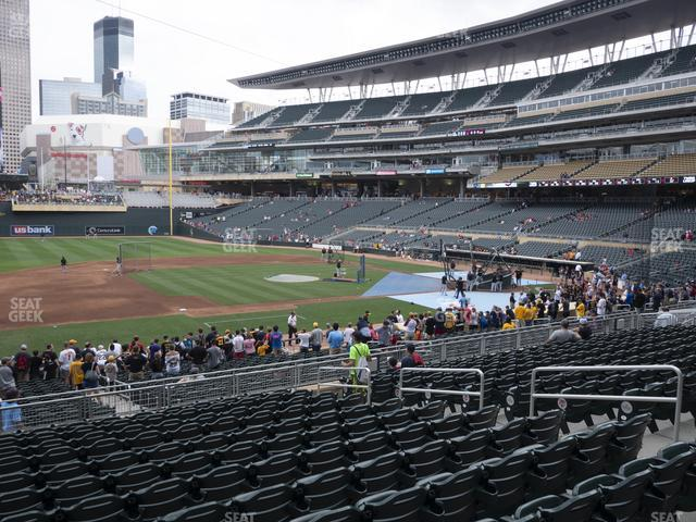 Target Field Section 121 view