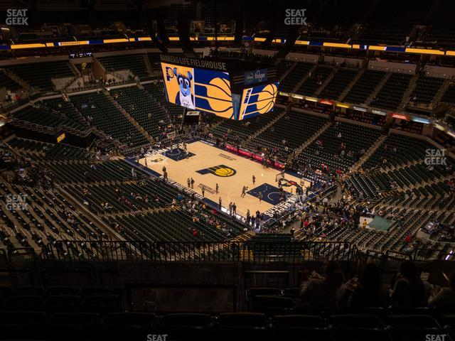 Bankers Life Fieldhouse Section 221 view