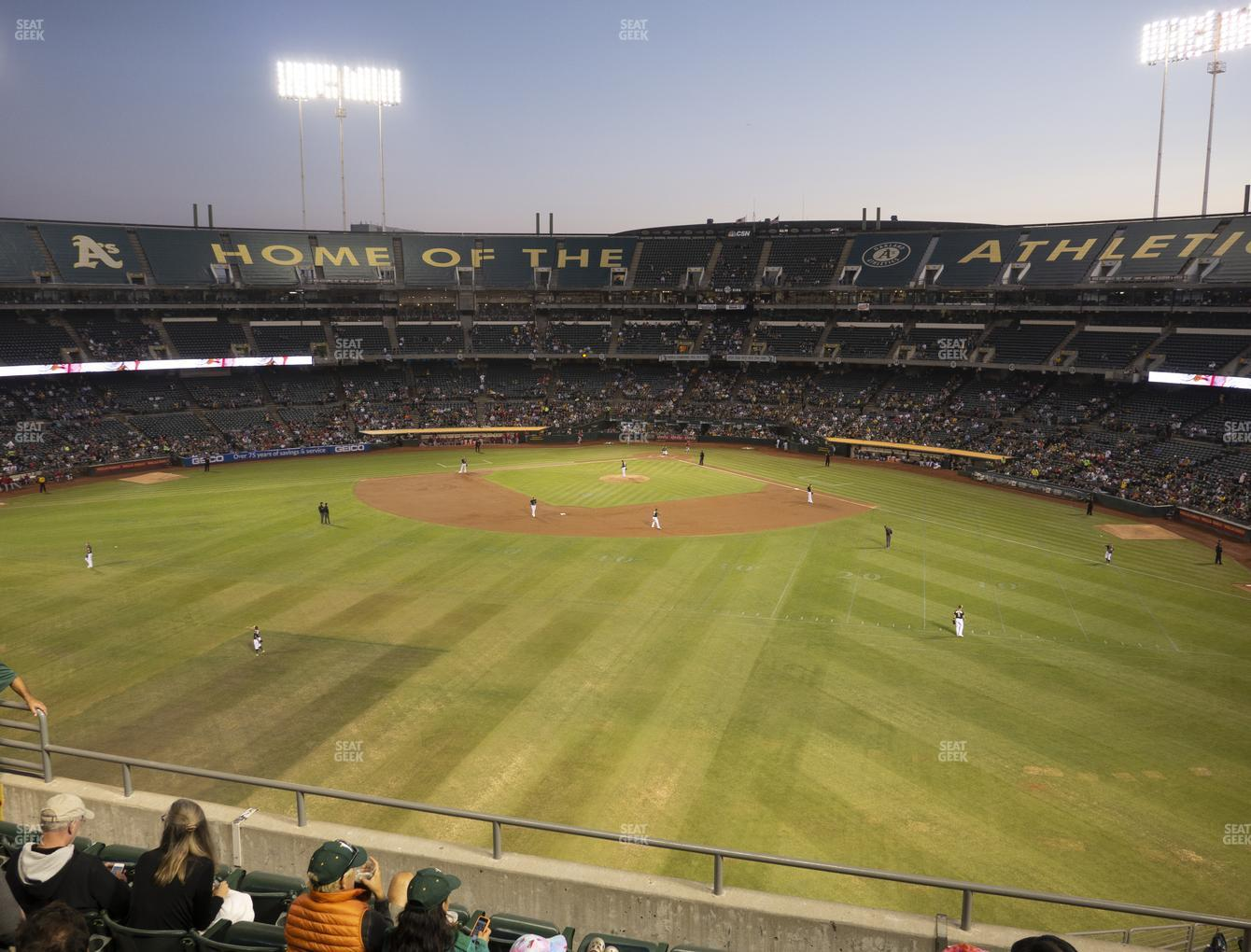 Oakland Athletics at RingCentral Coliseum Section 239 View