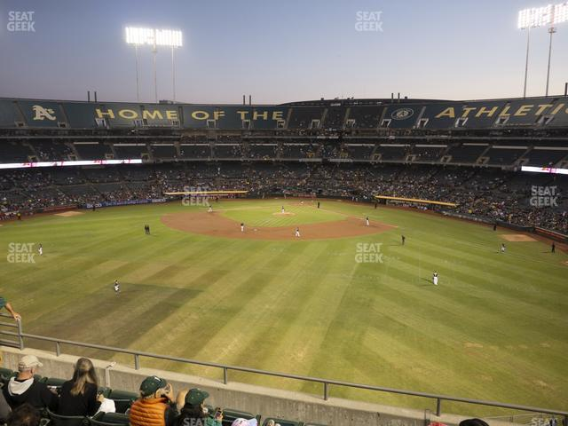 Oakland-Alameda County Coliseum Section 239 view