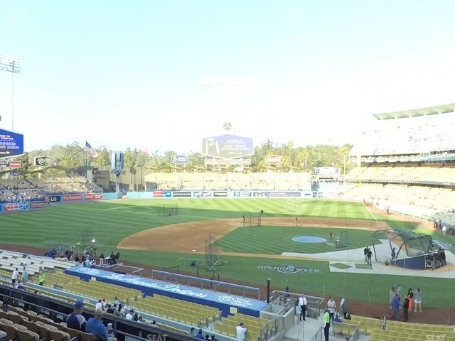 Dodger Stadium Loge Box 123 view