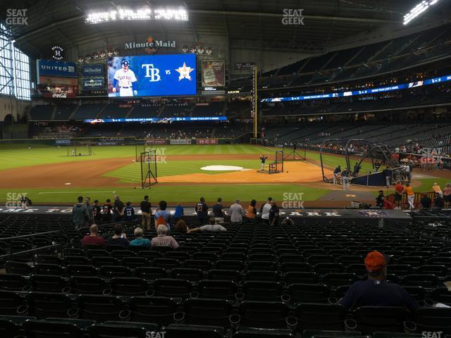 Minute Maid Park Section 114 view