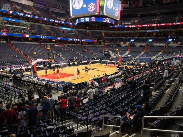 Capital One Arena Section 119 view