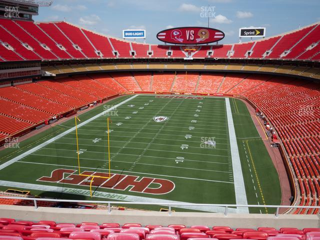 Arrowhead Stadium Section 311 view