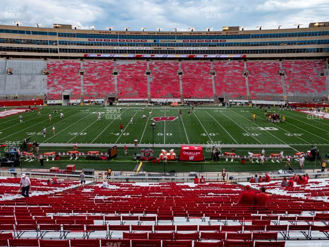 Camp Randall Stadium Section E view