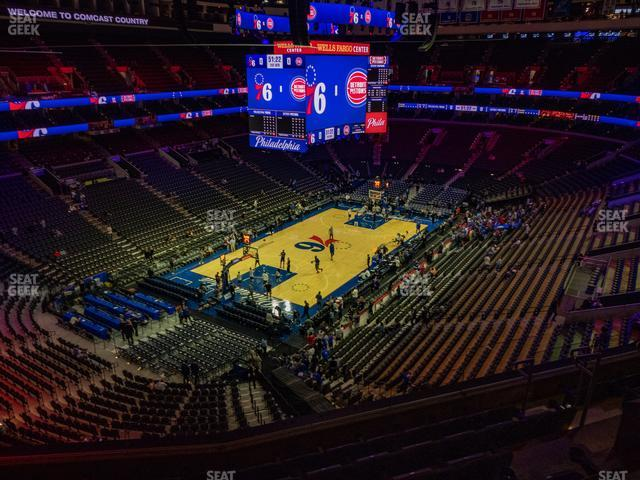 Wells Fargo Center Section 221 A view