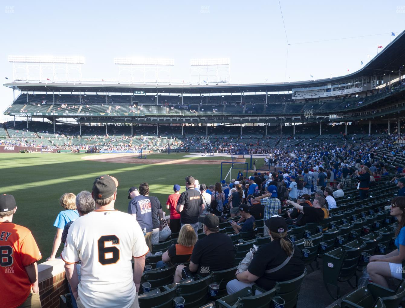 Chicago Cubs at Wrigley Field Section 101 View