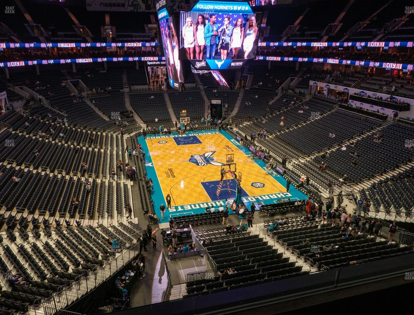 Charlotte Hornets at Spectrum Center Section 218 View