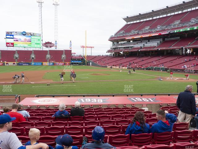 Great American Ball Park Section 117 view