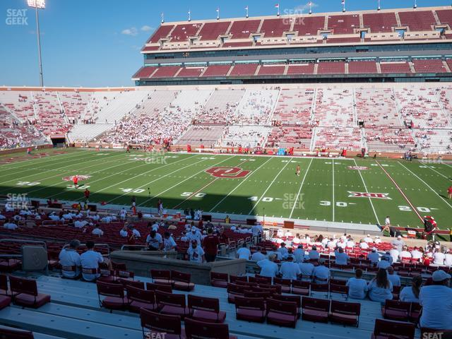 Gaylord Family Oklahoma Memorial Stadium Section 4 view