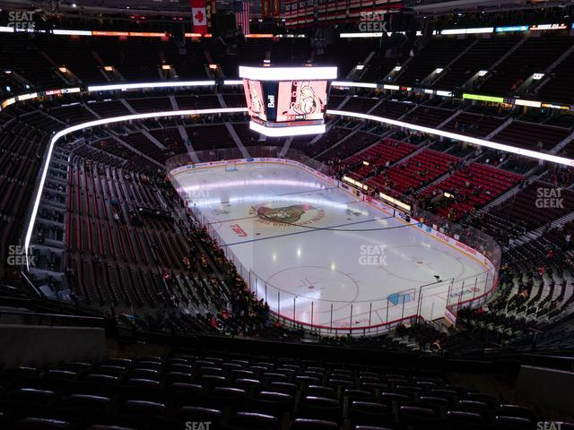 Canadian Tire Centre Section 317 view