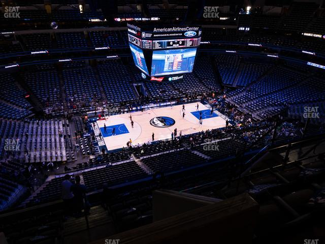 American Airlines Center Section 312 view