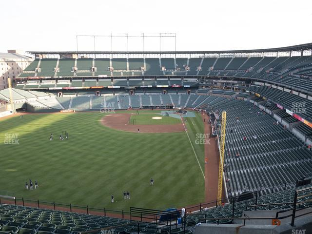 Oriole Park at Camden Yards Section 381 view