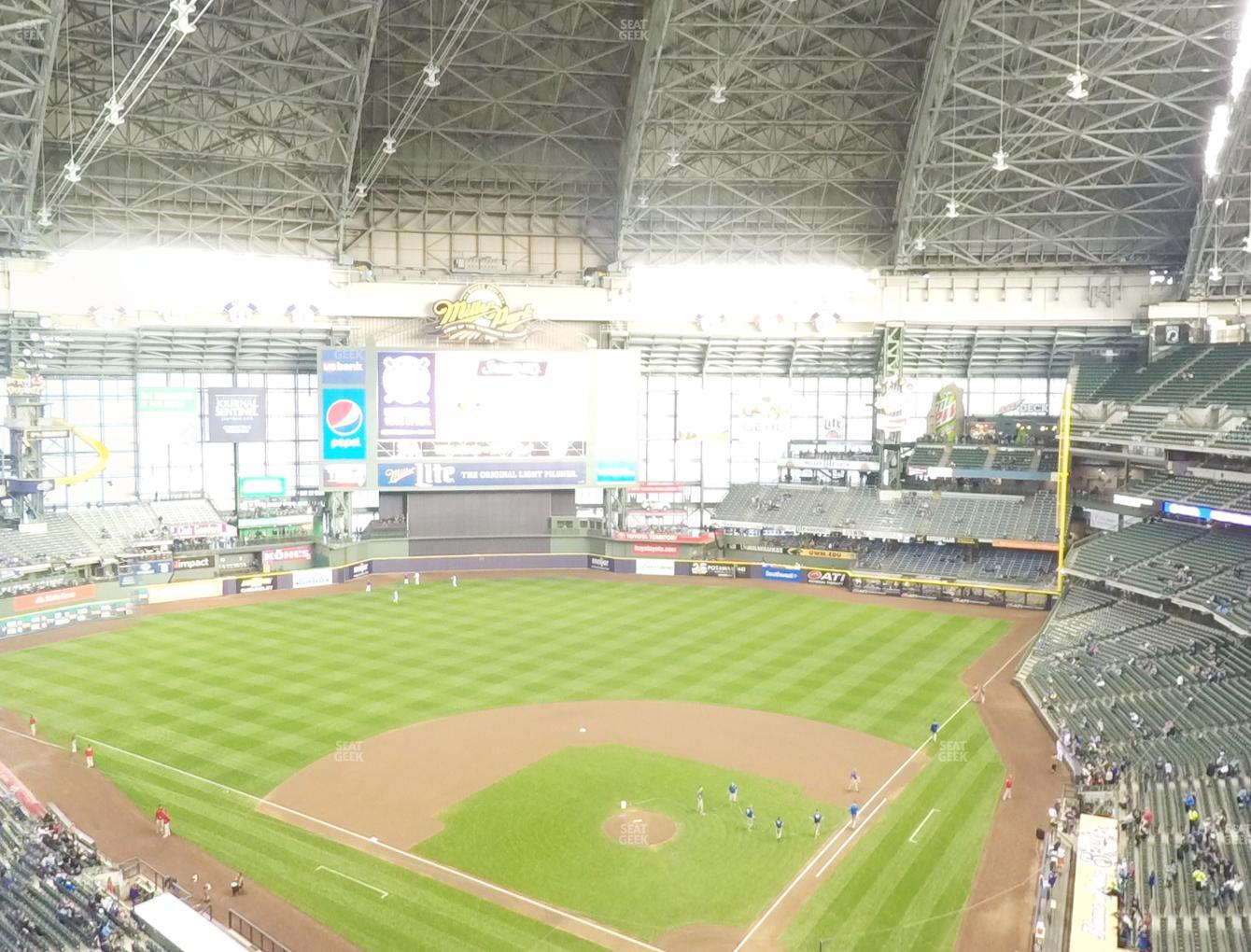Milwaukee Brewers at Miller Park Section 424 View