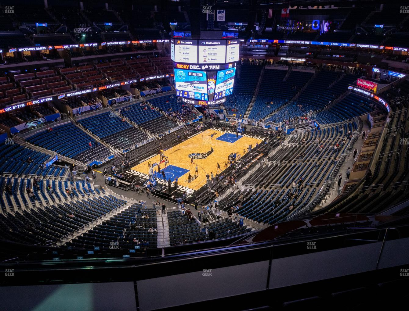 Orlando Magic at Amway Center Section 214 View