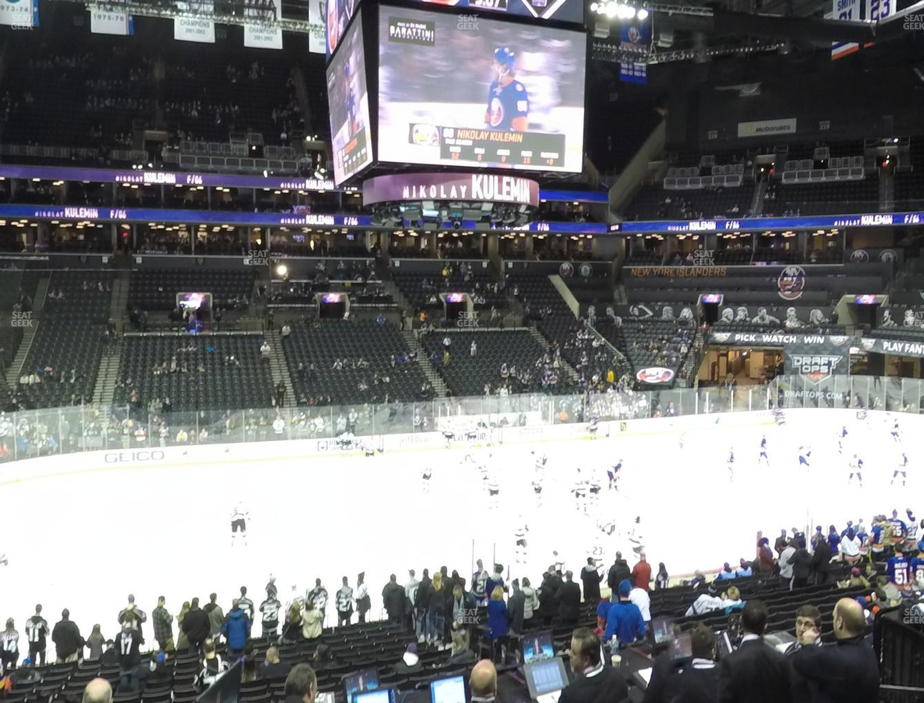 Sports at Barclays Center Section 109 View