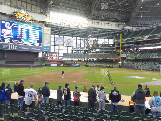 Miller Park Section 122 view