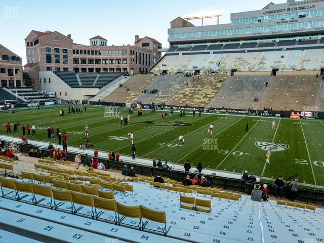 Folsom Field Section 107 view