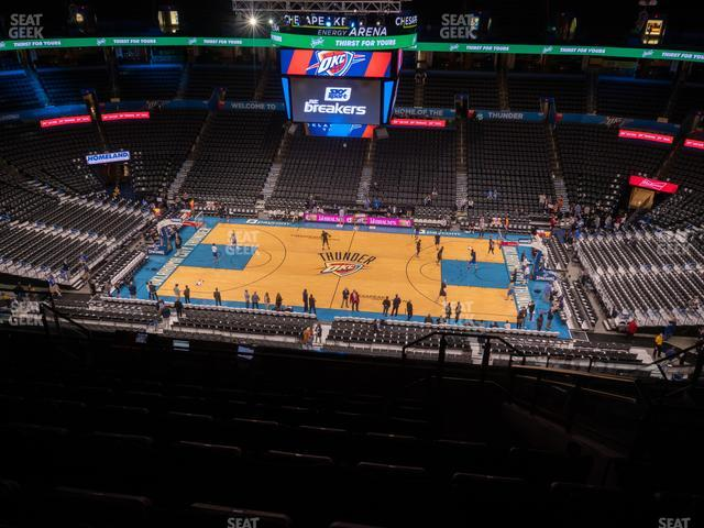 Chesapeake Energy Arena Section 308 view