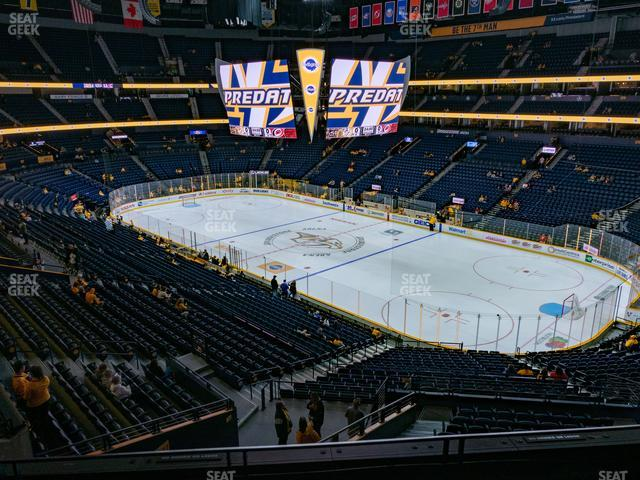 Bridgestone Arena Section 313 view