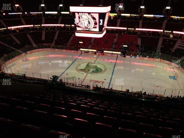 Canadian Tire Centre Section 321 view