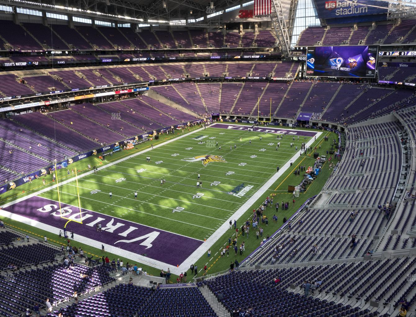 Minnesota Vikings at U.S. Bank Stadium Section 350 View