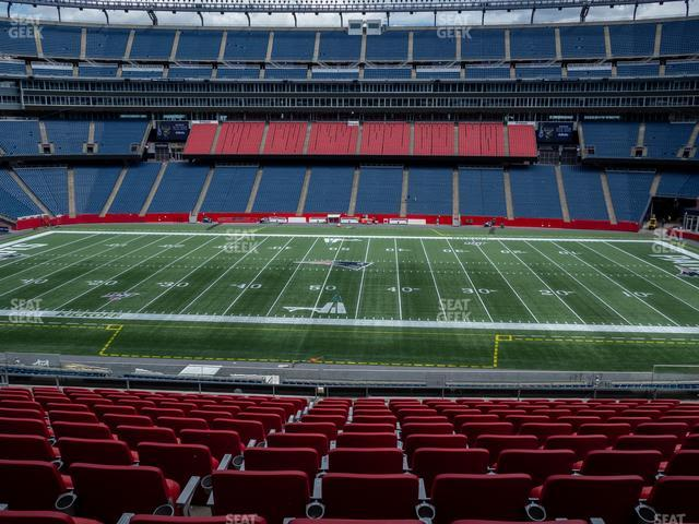 Gillette Stadium Section Club 31 view