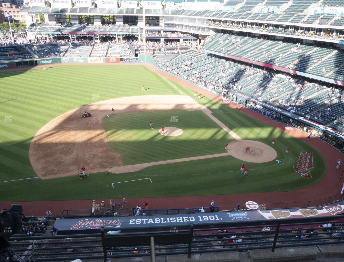 Cleveland Indians at Progressive Field Section 463 View
