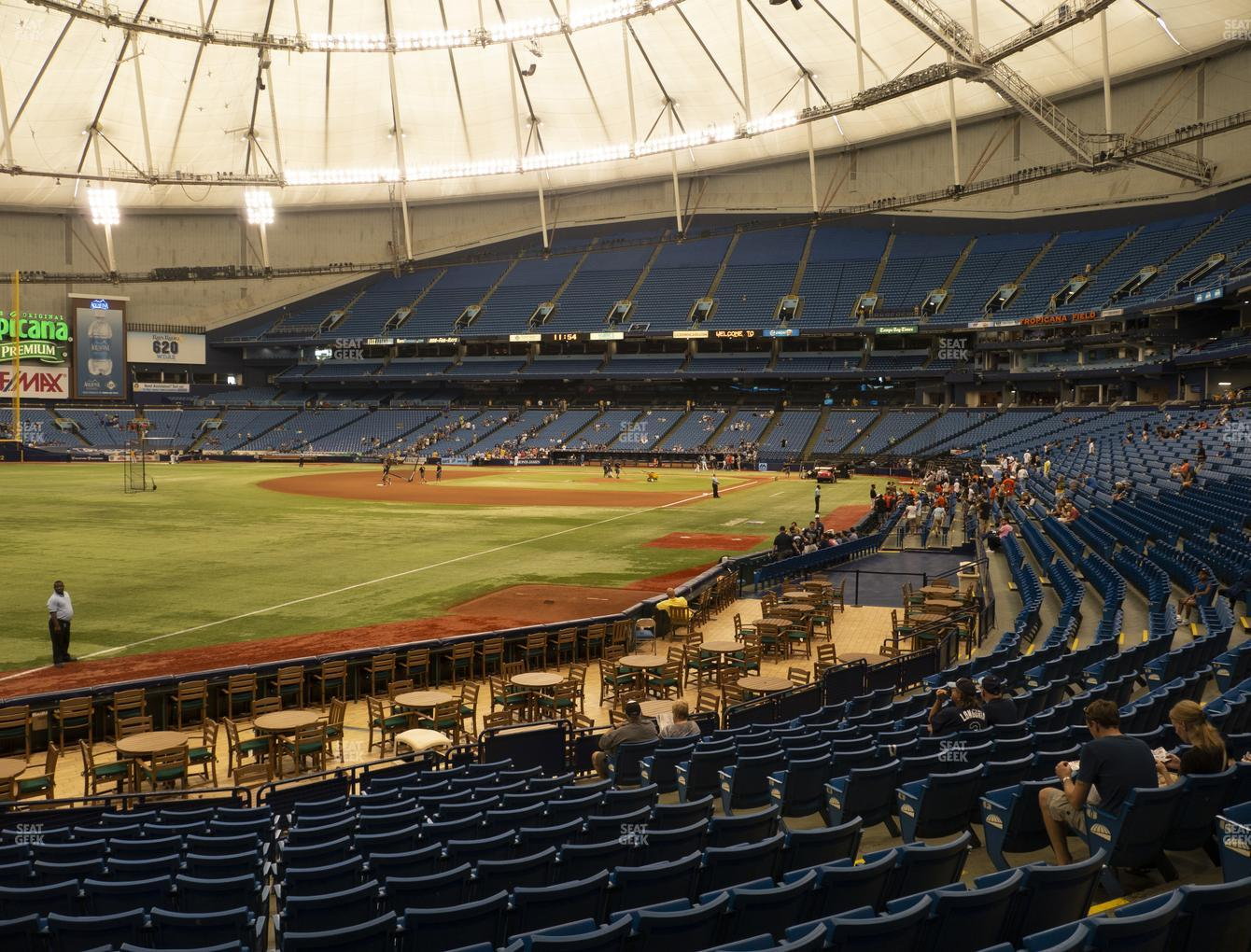 Tampa Bay Rays at Tropicana Field Section 135 View