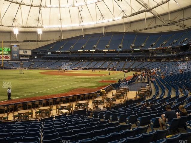 Tropicana Field Section 135 view