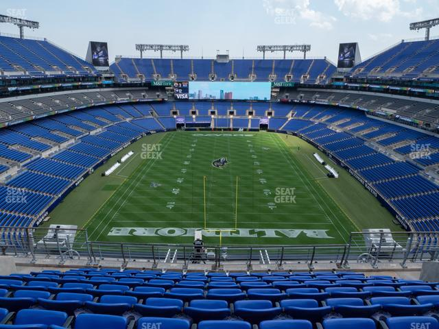 M&T Bank Stadium Section 540 view