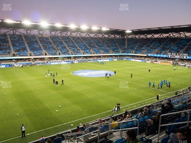 Earthquakes Stadium Section 102 view