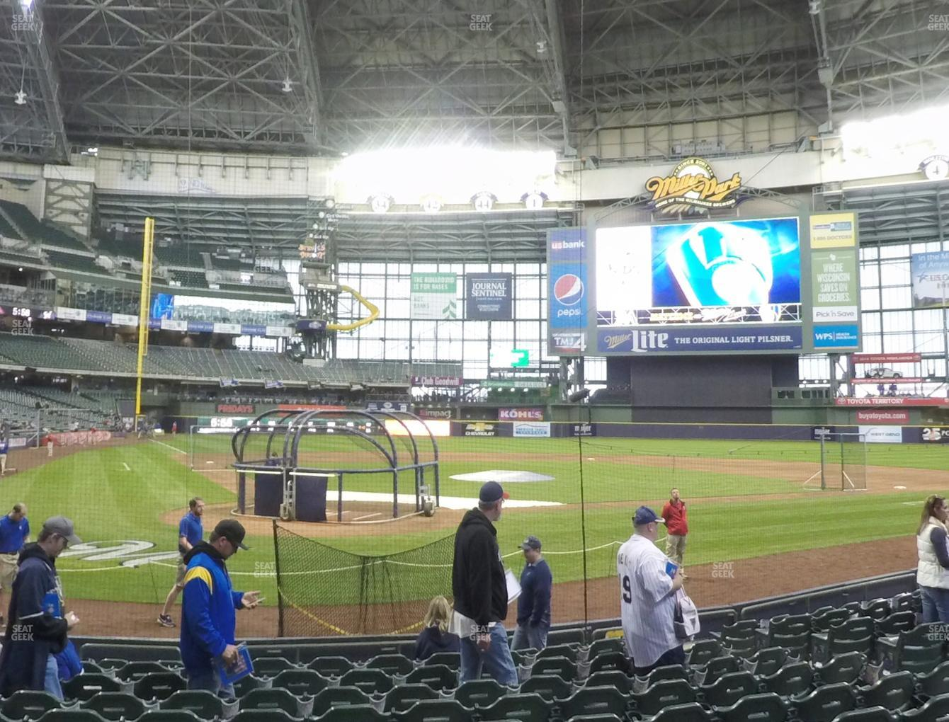 Milwaukee Brewers at Miller Park Section 116 View