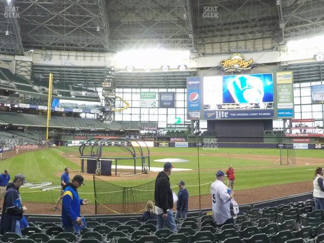 Miller Park Section 116 view