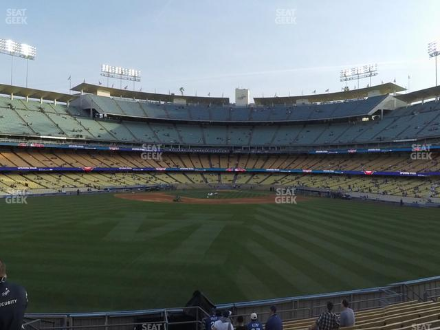 Dodger Stadium Left Field Pavilion 315 view