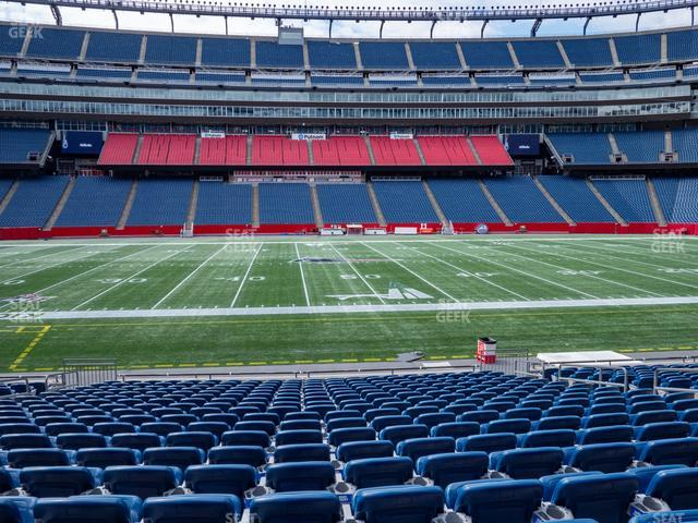 Gillette Stadium Section 110 view