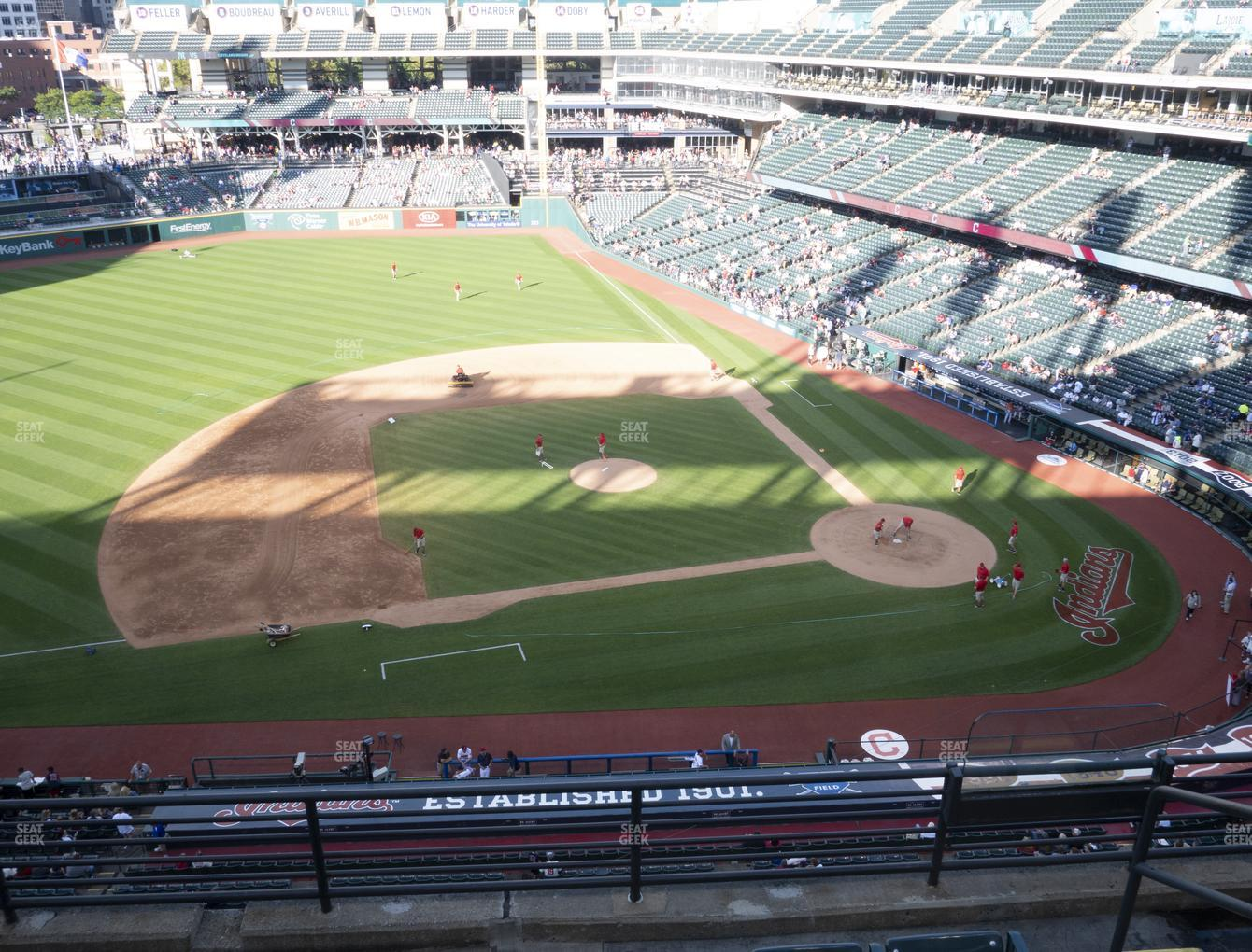 Cleveland Indians at Progressive Field Section 462 View