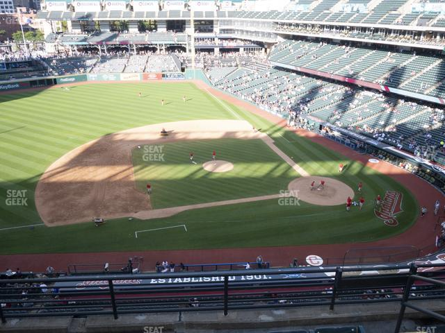 Progressive Field Section 462 view
