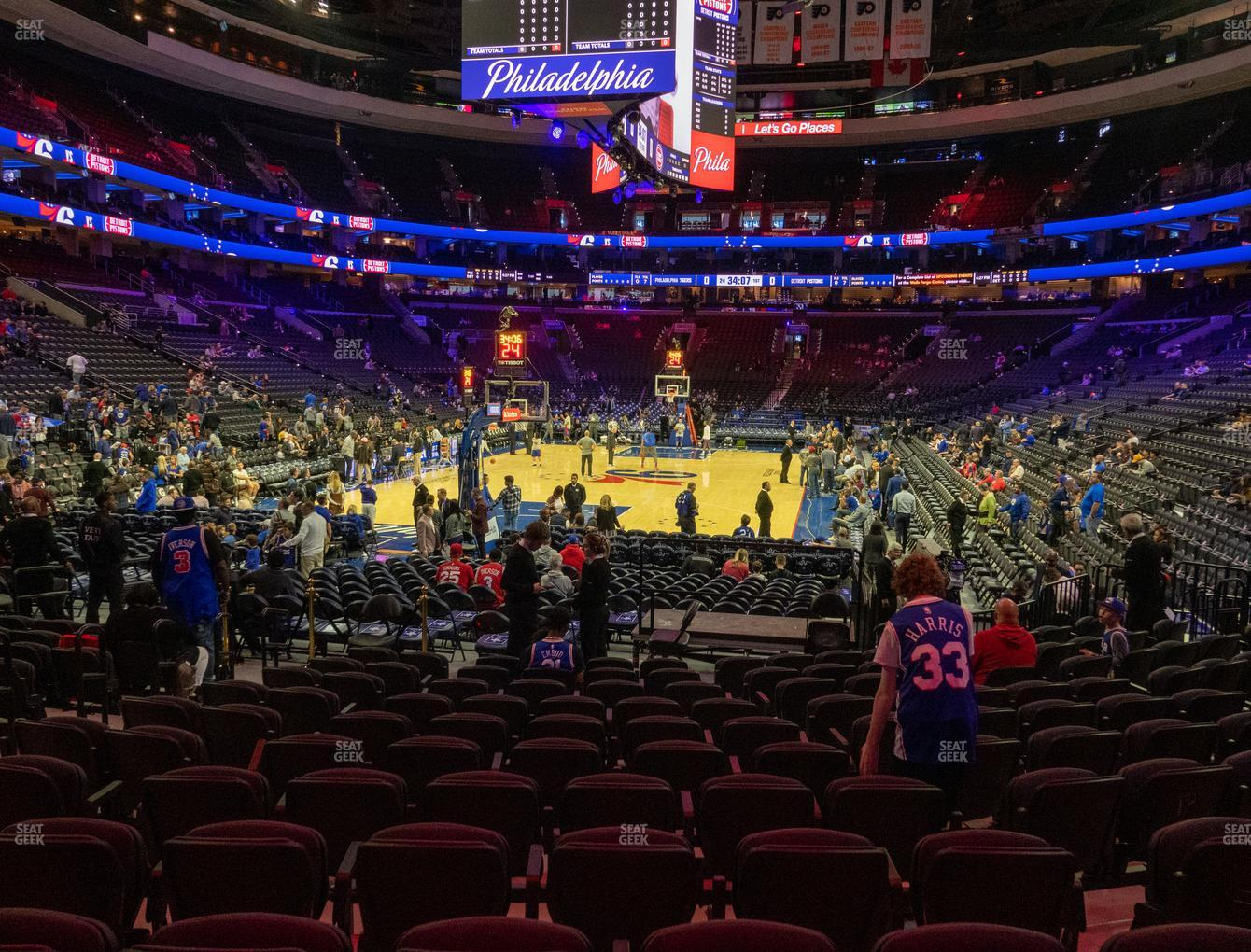 Philadelphia 76ers at Wells Fargo Center Section 108 View